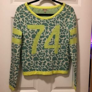 JUICY COUTURE glitter animal print sweater